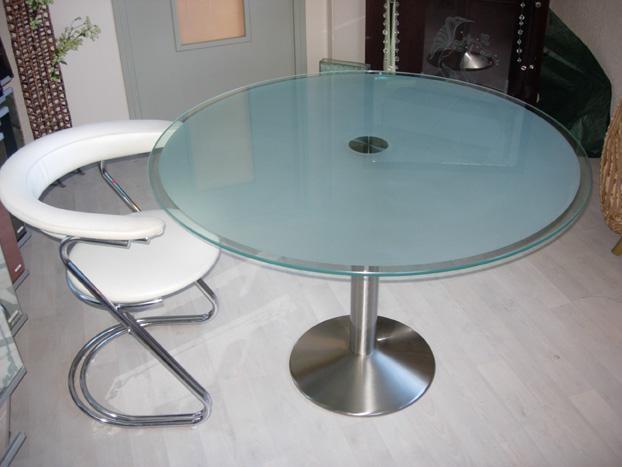 table salle a manger pied inox images. Black Bedroom Furniture Sets. Home Design Ideas