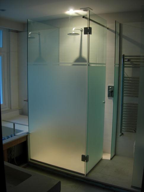 cabine de douche 3 faces opaques